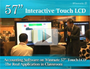"Accounting Software on 57"" Touch LCD-The Real Application in Classroom"