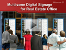 Multi-zone Digital Signage for Real Estate Office