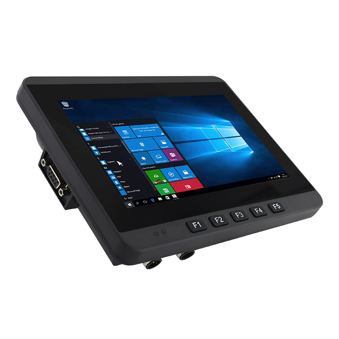 7-inch Vehicle Mounted Computer FM07 45 Degree Angle View with Programmable Function Keys
